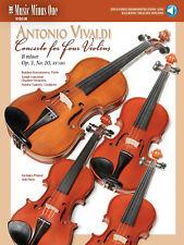 Vivaldi Concerto for Four Violins B minor Rv580 Sheet Music Minus One Book Audio