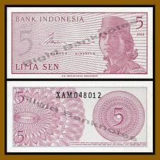 Indonesia 5 Sen, 1964 P-91 Replacement (X) Unc