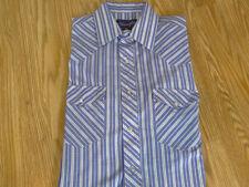 Wrangler X-long Tail Pearl Snap Sleeve Shirt Size L