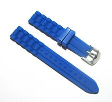New 18mm Silicone Rubber Watch Band Strap - Royal Blue