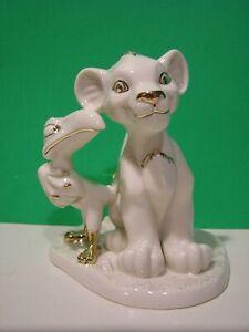 LENOX SIMBA and ZAZU Disney Showcase LION KING sculpture -- NEW in BOX with COA