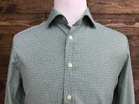 CHARLES TYRWHITT Men's Long Sleeve Green Check Jermyn Street London Size 16-35