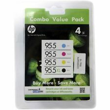 HP GENUINE Officejet 955XL BK + 955 CMY 4 Inkjet Cartridges Combo Value Pack