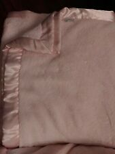 Simply Shabby Chic 2 Ply light pink Plush Fleece Blanket King with Satin Edging