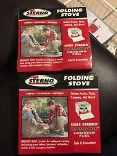 2 Sterno Single Burner Folding Stove 30010