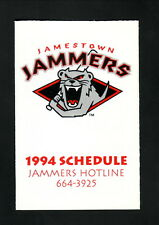 Jamestown Jammers--1994 Pocket Schedule--Dodge--Tigers Affiliate