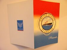 Ss United States, United States Lines, Nos, Note Card, From Va Auction/Gift Shop