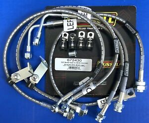 Russell 672430 Stainless Brake Hose Line Kit 1999-05 Chevy Silverado C1500 4WD