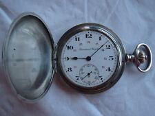 International Watch Co. IWC pocket watch siver hunter case 52 mm. in diameter