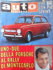 Auto Italiana n°6 1968 Fiat 850 - Vic Elford Porsche Montecarlo [P27]