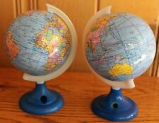 2 World Globe Plastic Base Pencil Sharpeners