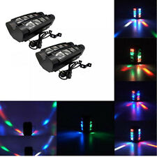 Lot2 60W 8-LED RGBW Light Spider Moving Head Stage Lights DMX DJ Disco US Plug