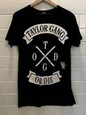 Taylor Gang Black T Shirt Short Sleeve Cotton Size M