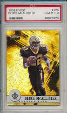 Deuce McAllister 2001 Topps Finest #126 Rookie Card #/1000 rC PSA 10 Gem Mint