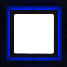 18w LED SQUARE Recessed Ceiling Panel 2 in 1 Colour Cool White & Blue Spotlight