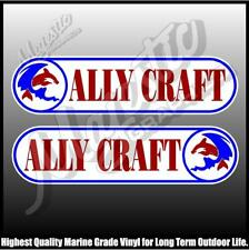 ALLYCRAFT - 430mm X 105mm X 2 - LEFT & RIGHT PAIR - BOAT DECALS