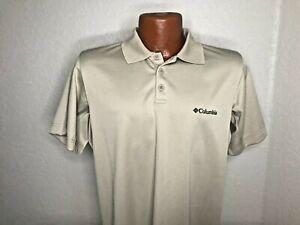 Men's Columbia Omni-Shade S/S Polo/Golf Shirt Size Small (S) TAN