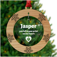 Wood Personalised Dog Cat Pet Memorial Christmas Tree Decoration Bauble Gifts