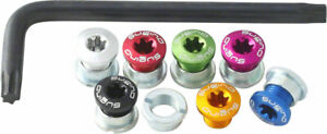 Sugino Alloy Single Chainring 6mm Bolt Nut Set of 7 Rainbow with Torx T30 Wrench