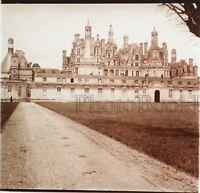 Château Da Chambord Francia Placca Da Lente Stereo Positive Vintage