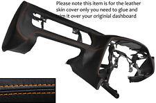 ORANGE STITCH DASH DASHBOARD LEATHER SKIN COVER FITS TOYOTA SUPRA MK4 1993-2002