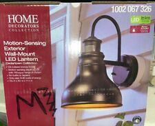 Home Decorators Oil Rubbed Bronze Outdoor LED Motion Sensor Wall Lantern