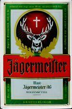 """Retro Blechschild Vintage Nostalgie look 20x30cm """"Jägermeister"""" neu"""