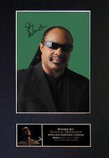 #150 STEVIE WONDER Signature/Autograph Mounted Signed Photograph A4