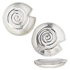 2989 Brushed Copper Bead Silver Swirl 40mm PK2 *UK EBAY SHOP*