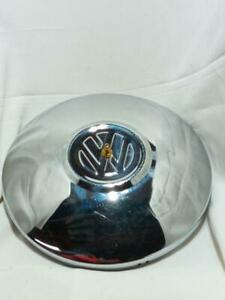 "Vintage Original 70s VW Beetle 10"" Hub Cap Clock Works Nicely **off of a vw bug"