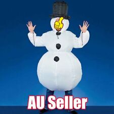 Inflatable Snowman Costume Christmas Gift Mens Xmas Fancy White Dress Suit BO