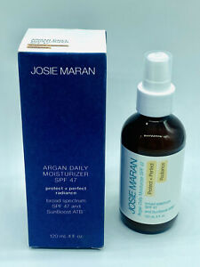 BNIB Josie Maran Argan Daily Moisturizer SPF47 Protect & Perfect RADIANCE 4 oz