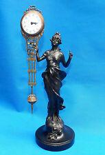 Beautiful pendulum clock bronze Angel Goddess statue