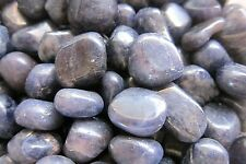 *ONE* Iolite Tumbled Stone QTY1 20-25mm India Get Rid of Debt Financial Worries