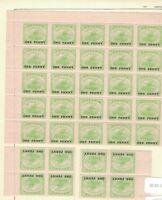 1917 Australia Manate Papua SG 106 1d Green, Block 25 Plus 8 MNH