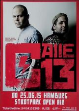Calle 13 - 2015-Manifesto Concerto-Concert-Multi viral-TOUR POSTER-Amburgo