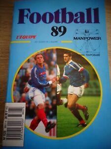 FOOTBALL LES GUIDES DE L'EQUIPE  année 1989