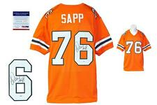 Warren Sapp SIGNED Orange Jersey - PSA/DNA Witness - Miami Hurricanes Autograph