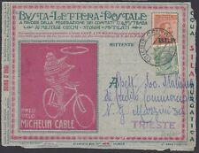 """1921 BLP c.20 + c.5 su busta viaggiata """"Pneu Velo Michelin Cable"""" - 1692  """"2"""