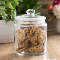 900ml Glass Wedding Sweets Storage Cake Pasta Jar Biscuit Cookie Barrel Tin