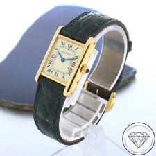 Cartier Tank Louis Quartz 750 / 18 Karat Gelb Gold Damen Armband Uhr xxyy