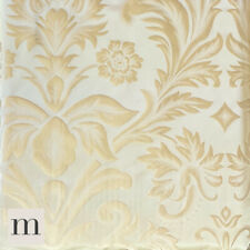 Luxury Shimmering Antique Gold Ornate Floral Lined Pencil Pleat Curtain Pair