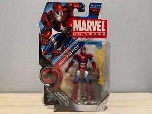 Marvel Universe Hasbro IRON PATRIOT #019 Helmeted Figure 3.75 Sealed on card