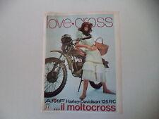 advertising Pubblicità 1973 MOTO AMF HARLEY DAVIDSON 125 RC R/C