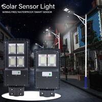60W LED Solar Powered Outdoor Wall Street Light PIR Motion Sensor Garden Lamp US