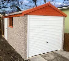 CONCRETE GARAGE 14'2''x 8'5'' (APEX ROOF) INC WINDOW