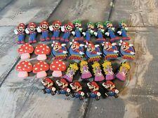Lot of 30 Super Mario & Friends Jibbitz Charm Crocs Shoe Charms / Buttons