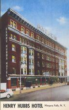 Henry Hubbs Hotel Niagara Falls NY New York Old Car Vintage Postcard