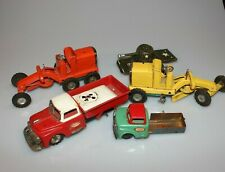 Vintage Made in Japan Farm Truck Parts Tin Toy Tank Grader Lot M33