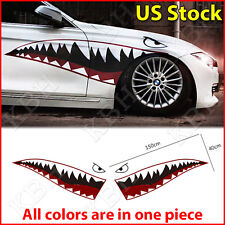 """59"""" Full Size Shark Mouth Tooth Flying Tiger Die-Cut Vinyl Decal Sticker Car B"""